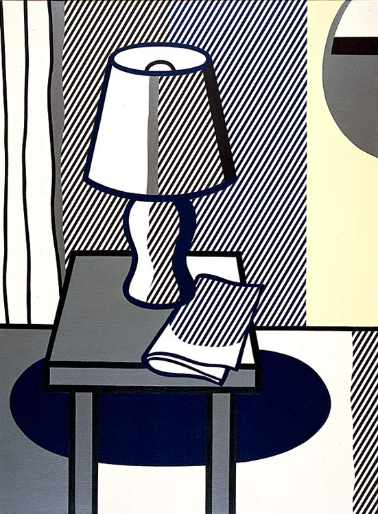 famous painting Still Life with Table Lamp of Roy Lichtenstein